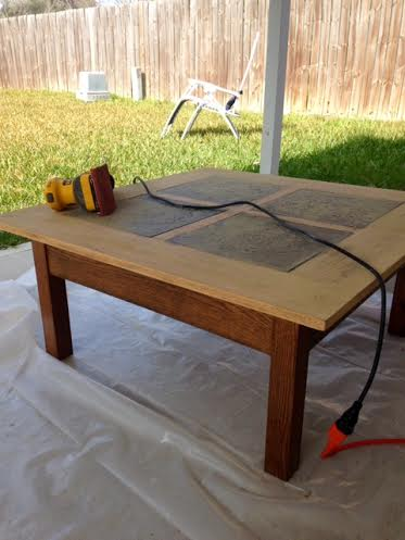 sanded table